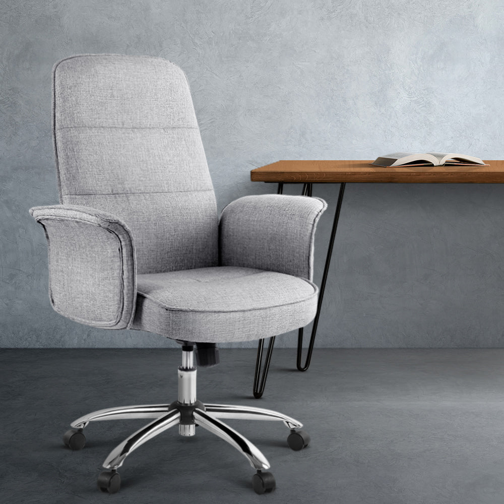 Fabric Office Desk Chair - Grey - The Home Accessories Company 3