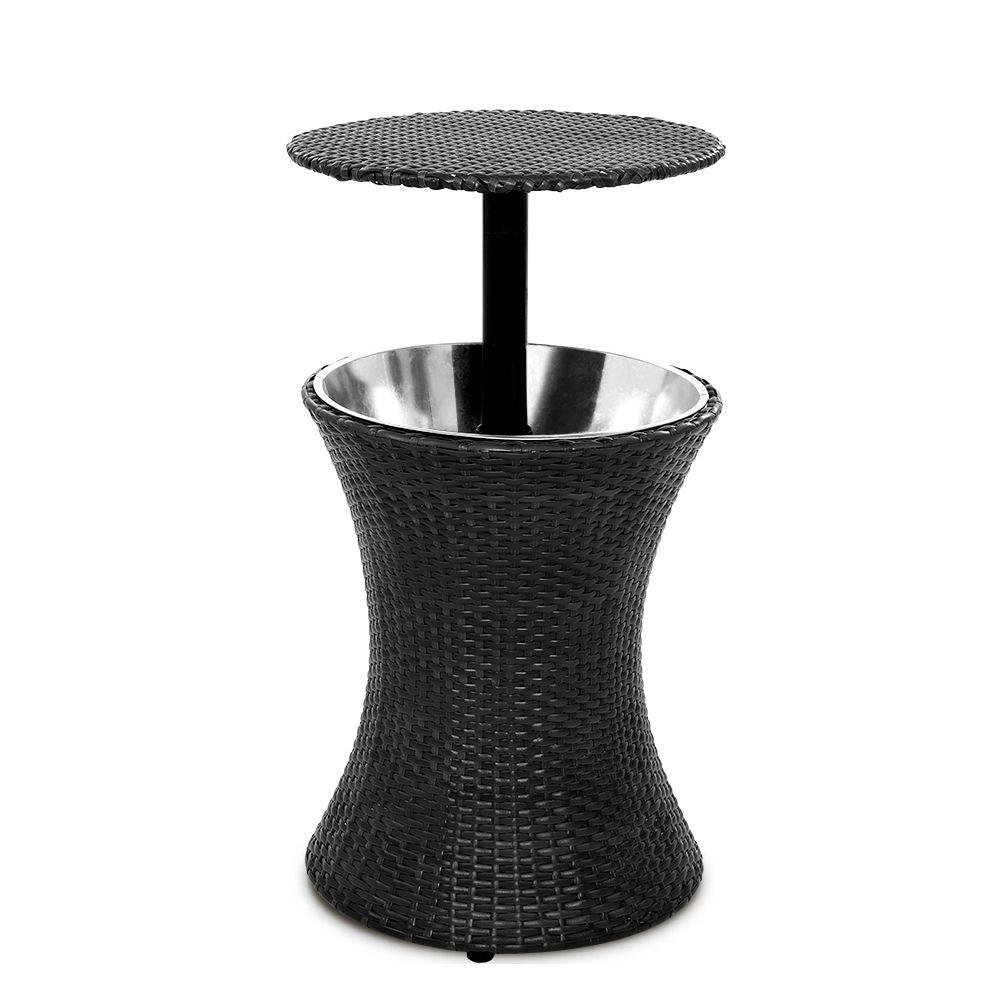 Outdoor Patio Cooler Table - Black - The Home Accessories Company