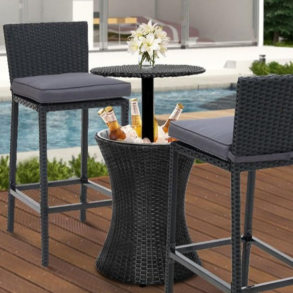 Outdoor Patio Cooler Table - Black - The Home Accessories Company 1