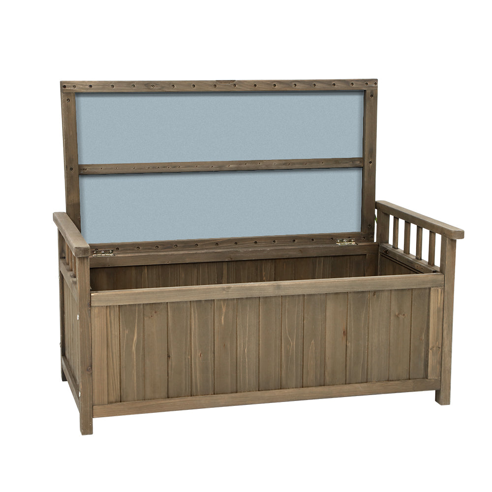 Wooden Outdoor Storage Bench Box - Natural - The Home Accessories Company 1