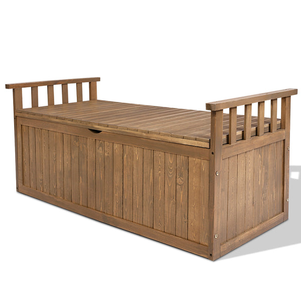 Wooden Outdoor Storage Bench - The Home Accessories Company
