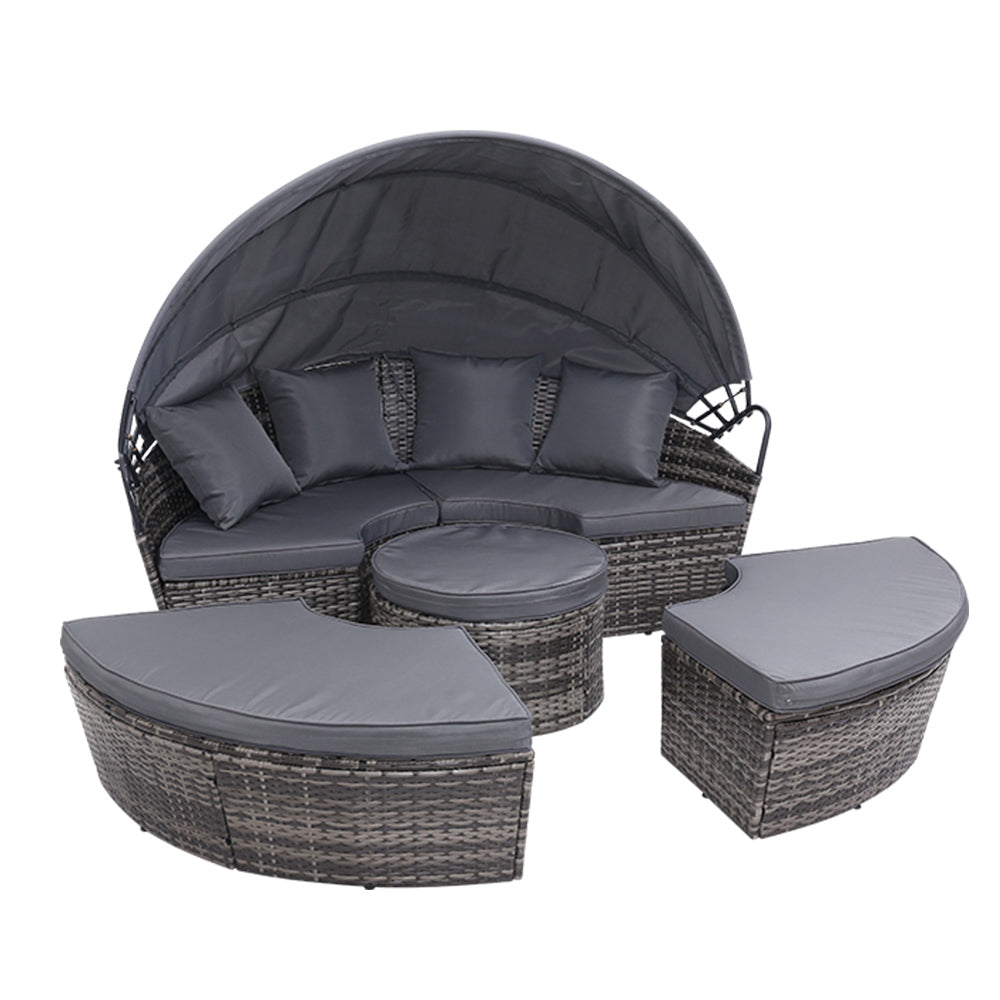 Outdoor Rattan Lounge Setting - Grey - The Home Accessories Company 1