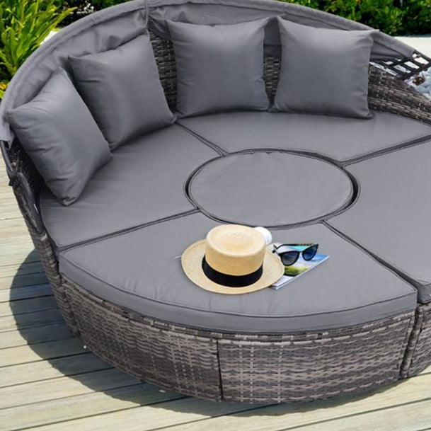 Outdoor Rattan Lounge Setting - Grey - The Home Accessories Company 2