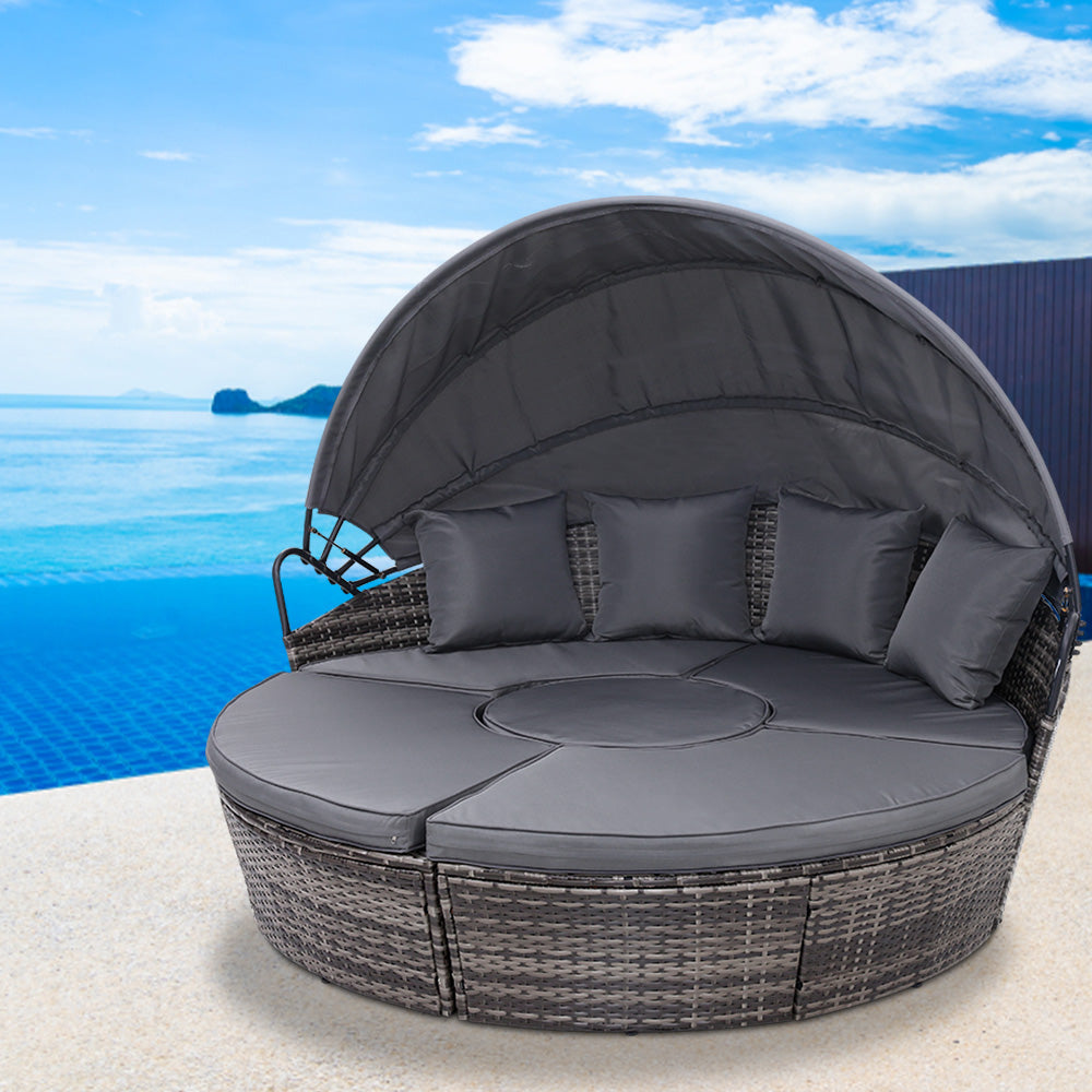 Outdoor Rattan Lounge Setting - Grey - The Home Accessories Company 3