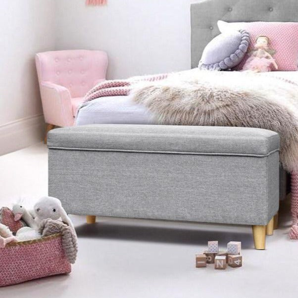 Storage Ottoman - Light Grey - The Home Accessories Company 1