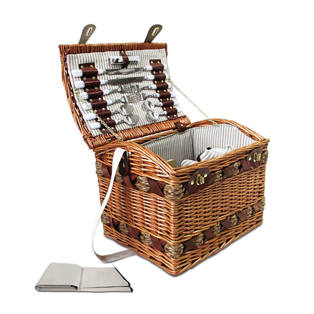 Vintage Style 4 Person Picnic Basket - The Home Accessories Company