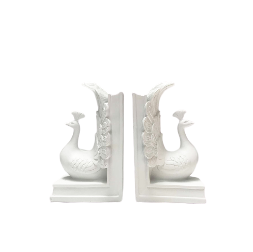 Peacock Bookends -  White - The Home Accessories Company 2