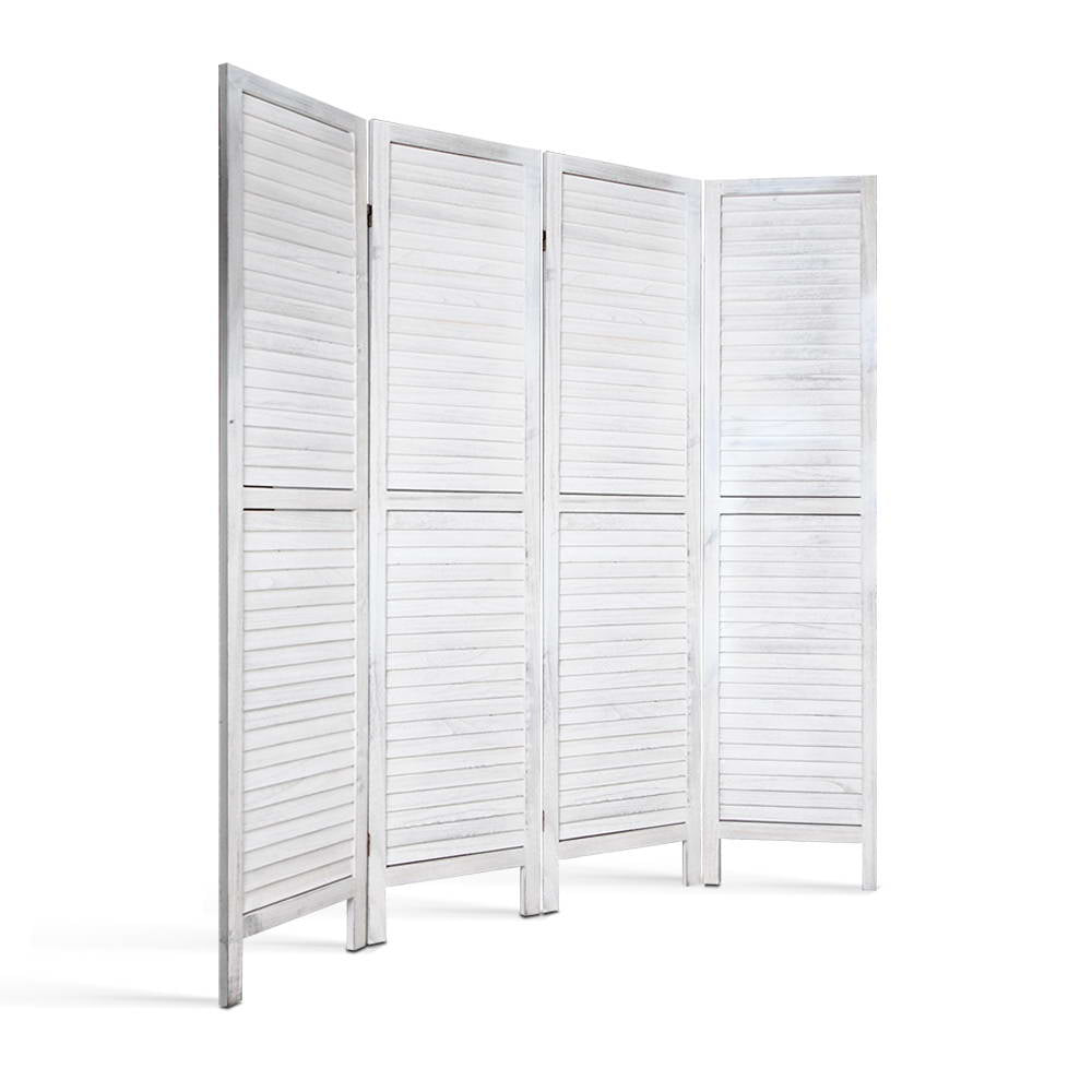 4 Panel Screen Foldable Room Divider - White - The Home Accessories Company 1