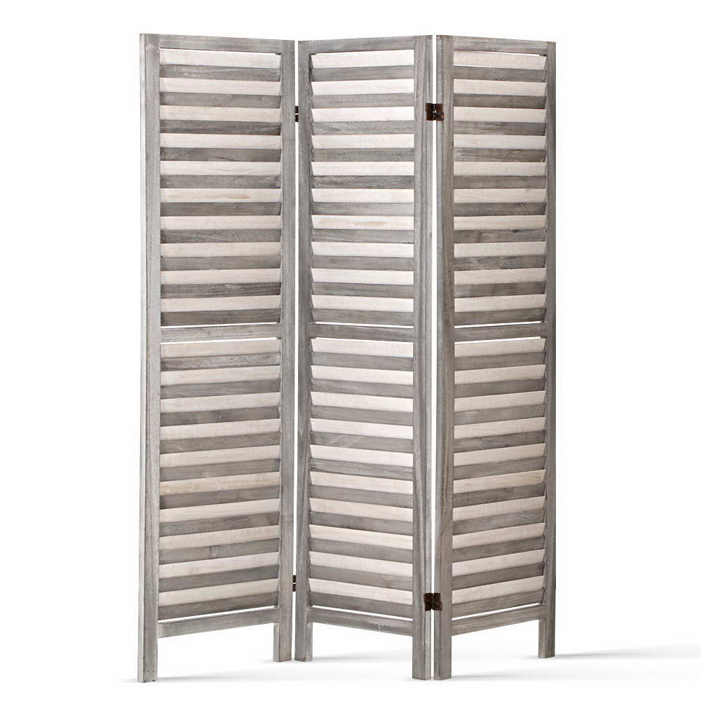 Screen Foldable Room Divider - Grey - The Home Accessories Company