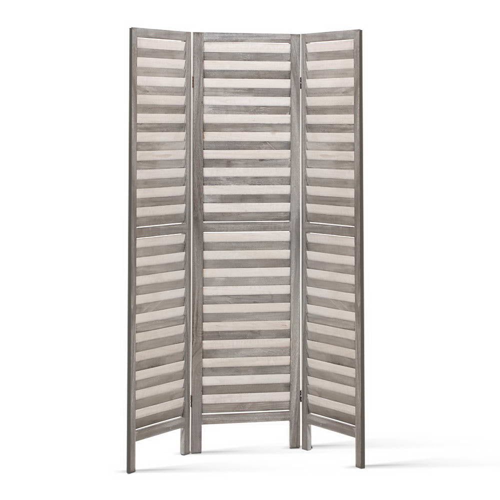 Screen Foldable Room Divider - Grey - The Home Accessories Company 2