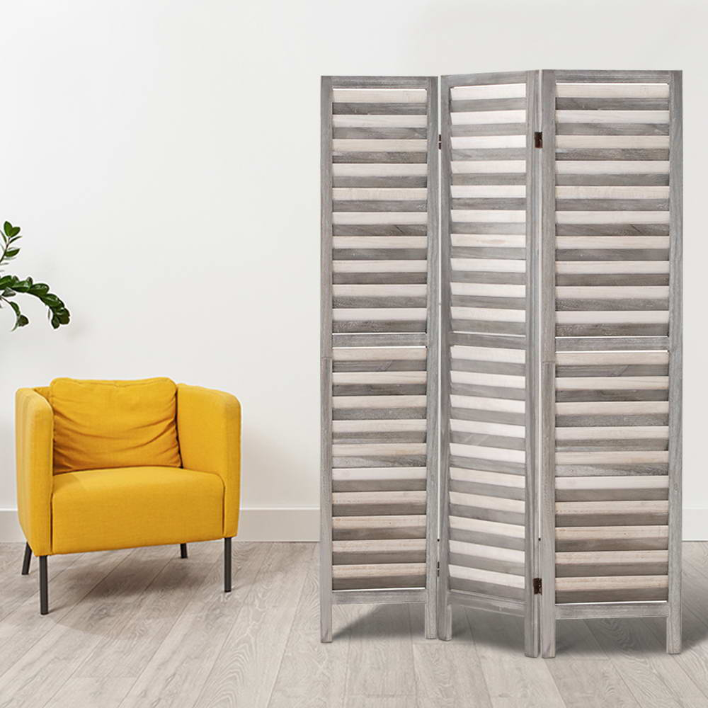 Screen Foldable Room Divider - Grey - The Home Accessories Company 5