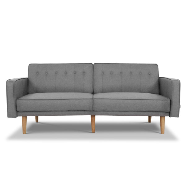 3 Seater Tessa Sofa Bed -  Light Grey - The Home Accessories Company
