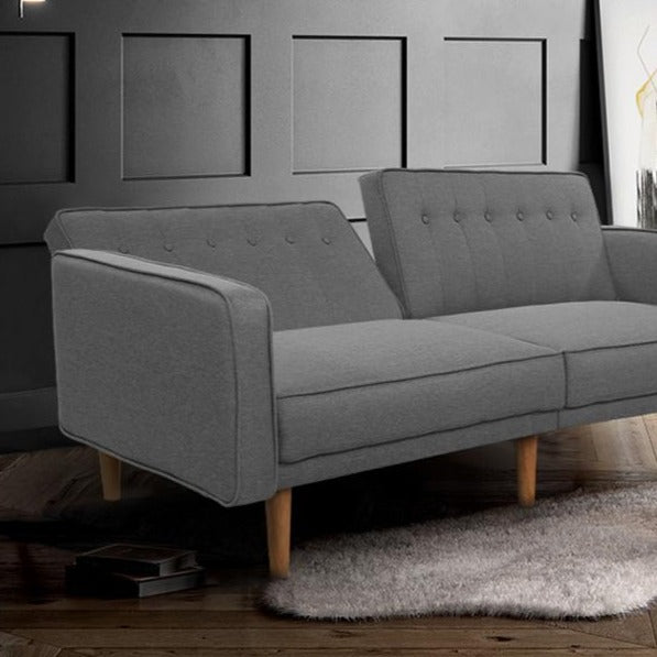 3 Seater Tessa Sofa Bed -  Light Grey - The Home Accessories Company 2