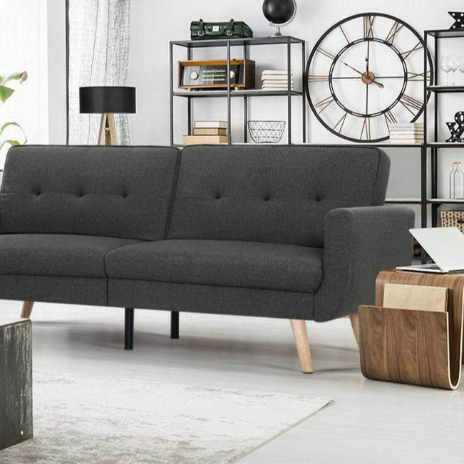 3 Nola Seater Sofa Bed - Dark Grey - The Home Accessories Company 1