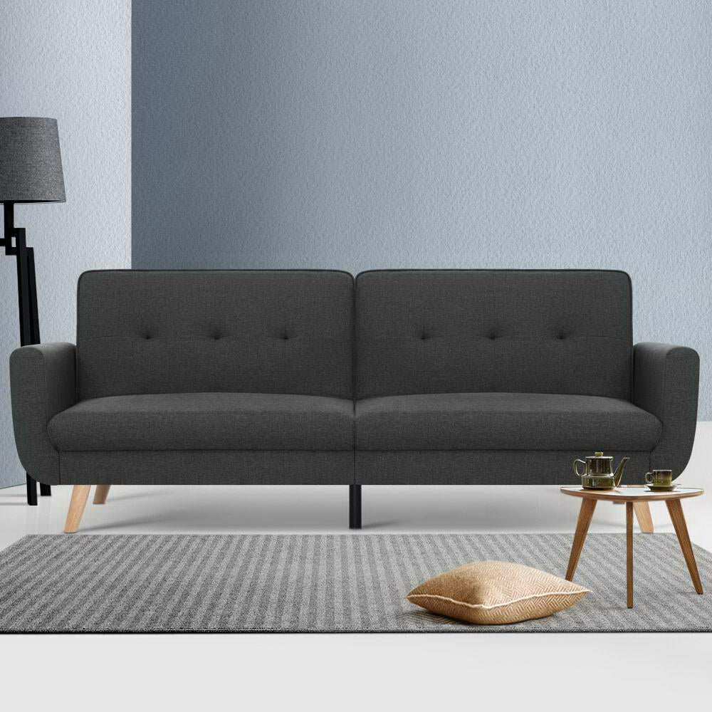 3 Nola Seater Sofa Bed - Dark Grey - The Home Accessories Company 2