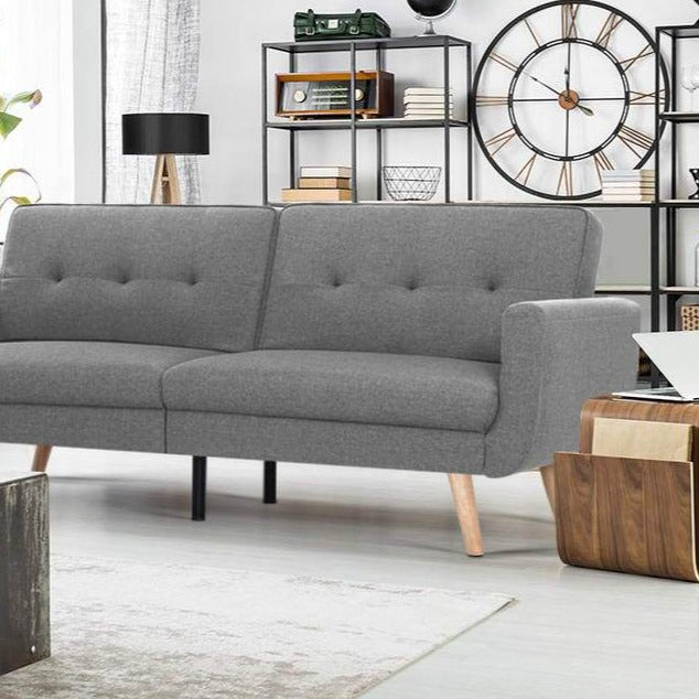 3 Nola Seater Sofa Bed - Grey - The Home Accessories Company 1