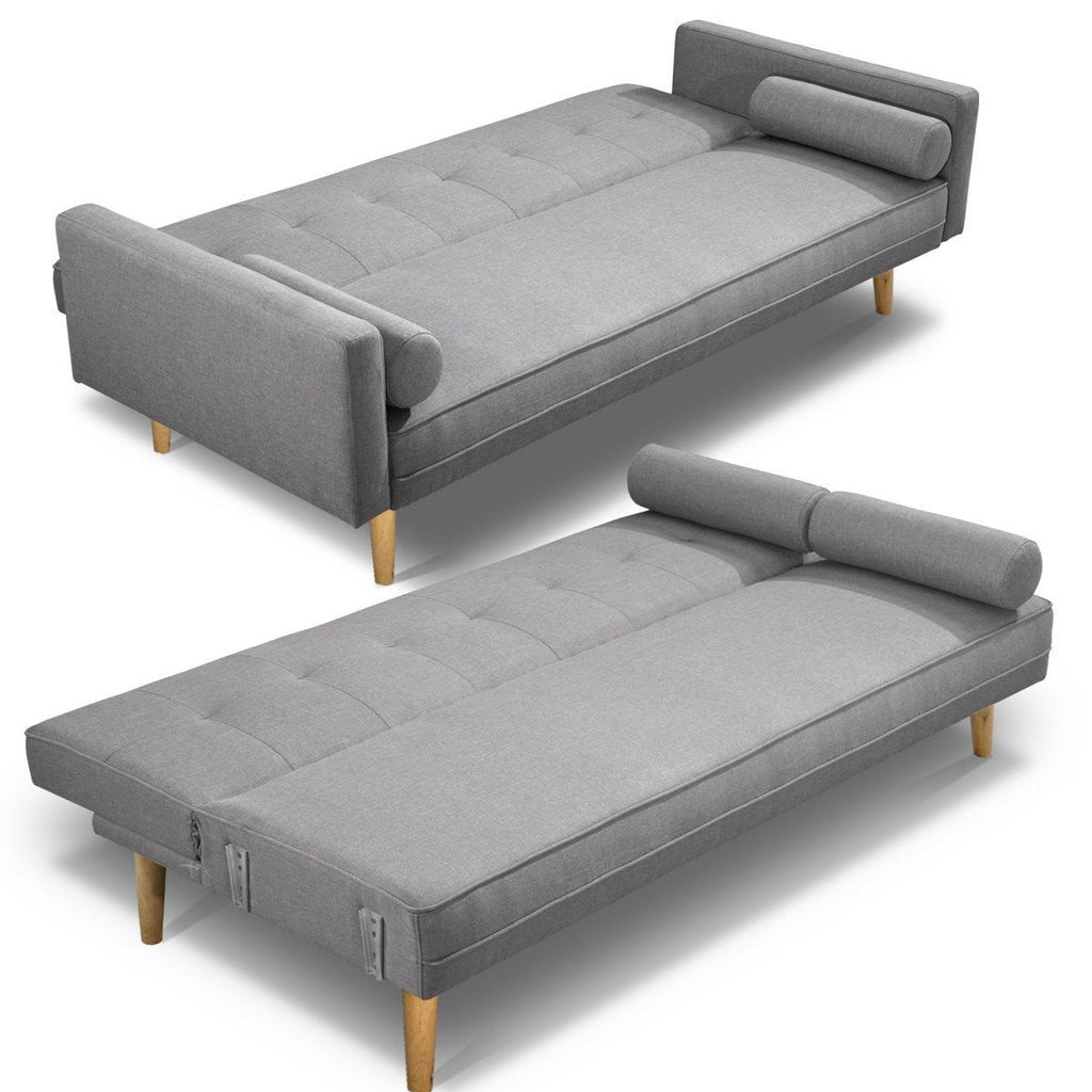 3 Seater Nora Sofa Bed - Grey - The Home Accessories Company 2