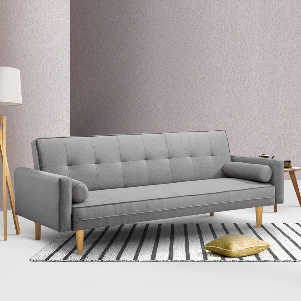 3 Seater Nora Sofa Bed - Grey - The Home Accessories Company 4