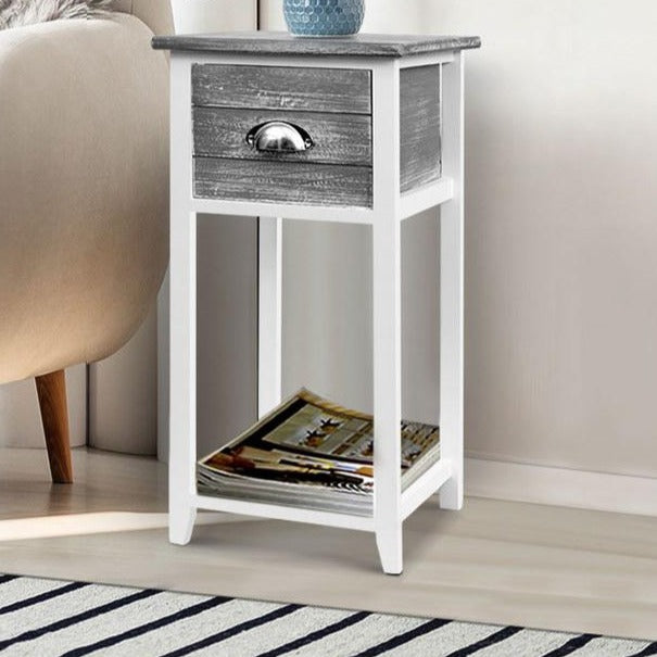 Thyme Bedside Table - Grey - The Home Accessories Company 1