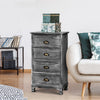 Vintage Washed Bedside Table - Grey - The Home Accessories Company 3