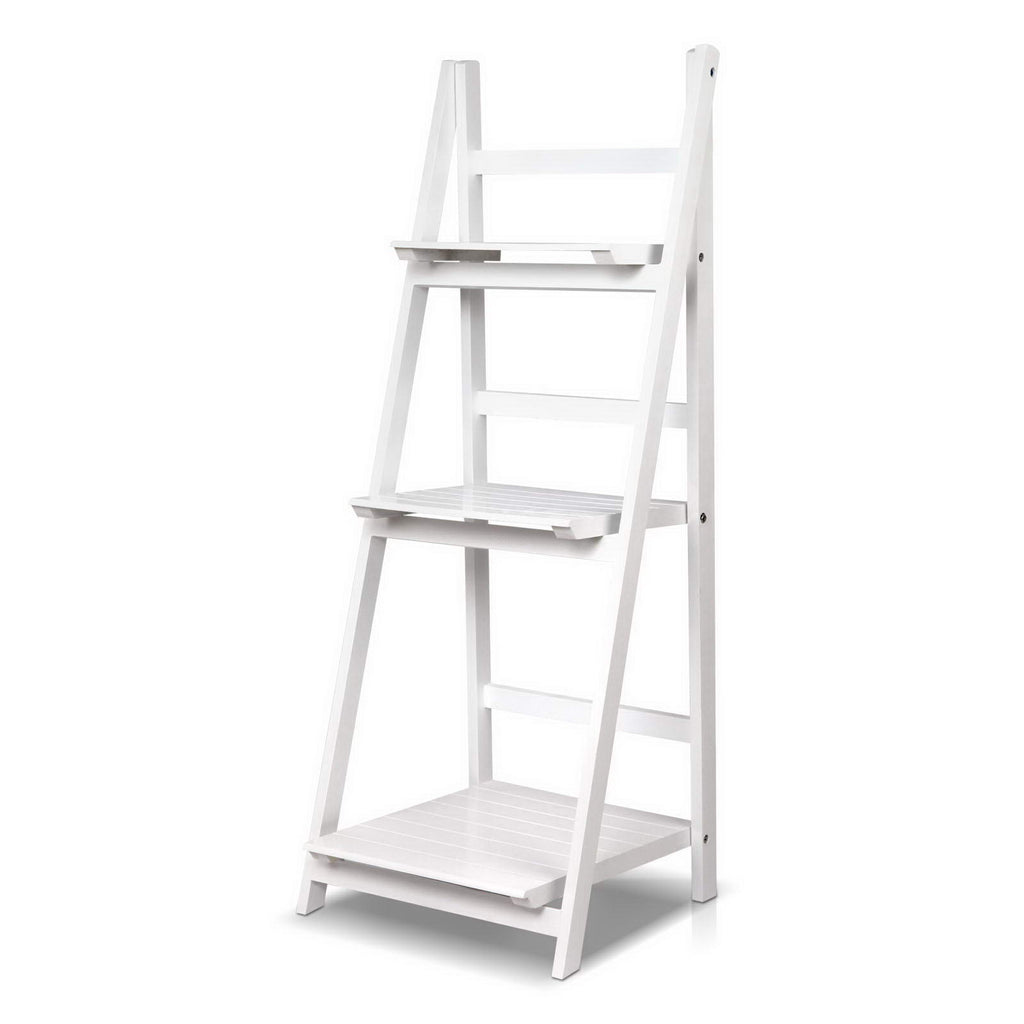3 Tier Ladder Shelves -  White - The Home Accessories Company