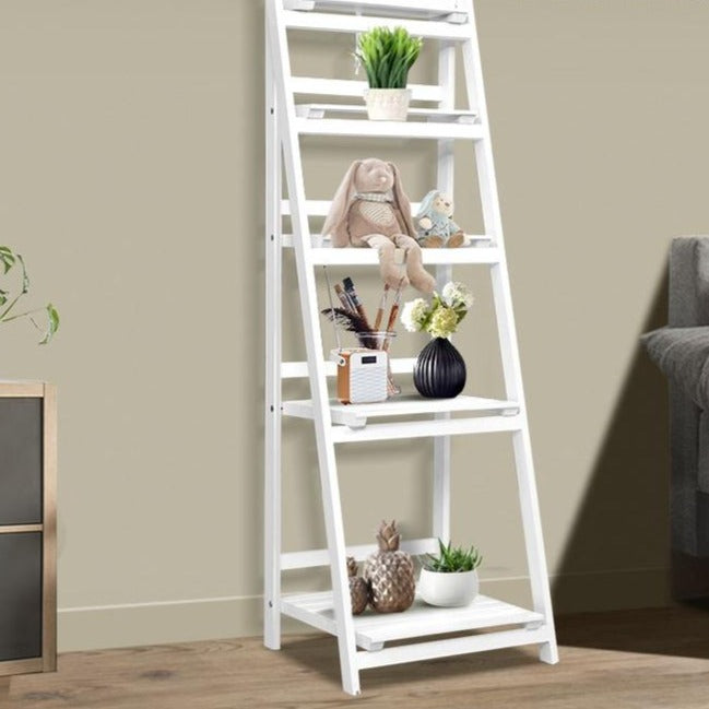 5 Tier Ladder Shelves -  White - The Home Accessories Company 1