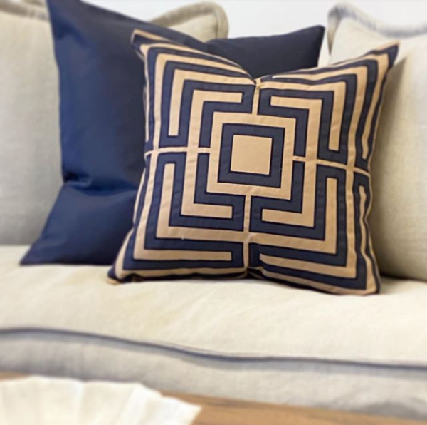 Acapulco Navy Cushion Cover - The Home Accessories Company 1