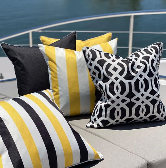 Portofino Black Cushion Cover - Suitable for Outdoors - The Home Accessories Company 1