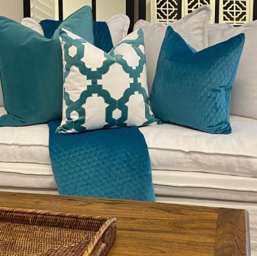 Brighton Cushion Cover - Available in Turquoise & Olive - The Home Accessories Company 2