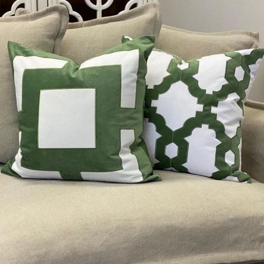 Brighton Cushion Cover - Available in Turquoise & Olive - The Home Accessories Company