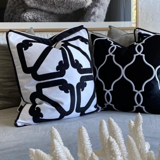 Laguna Beach Cushion Cover - Available in Silver, Soft Blue & Black- The Home Accessories Company 3