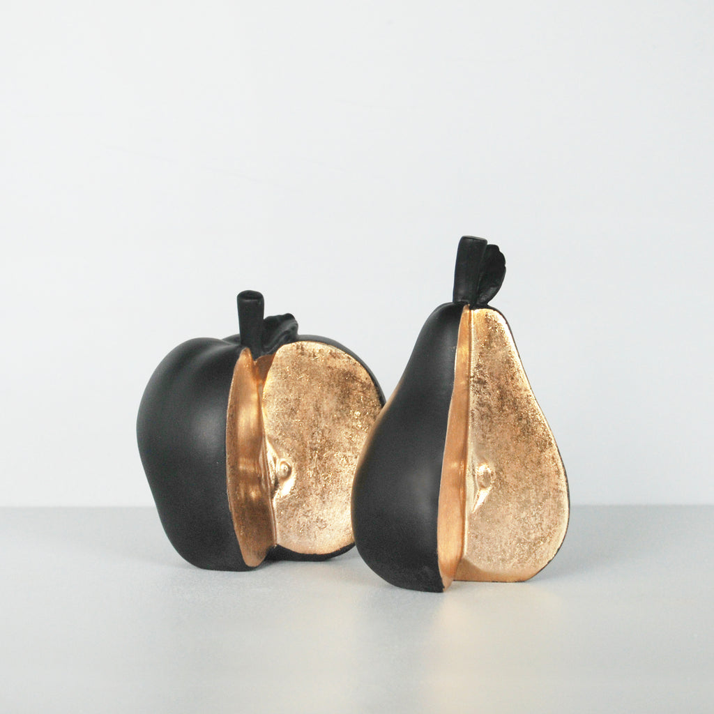 Sliced Apple & Pear Set - Black - The Home Accessories Company 4