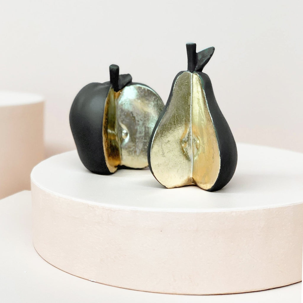 Sliced Apple & Pear Set - Black - The Home Accessories Company 2