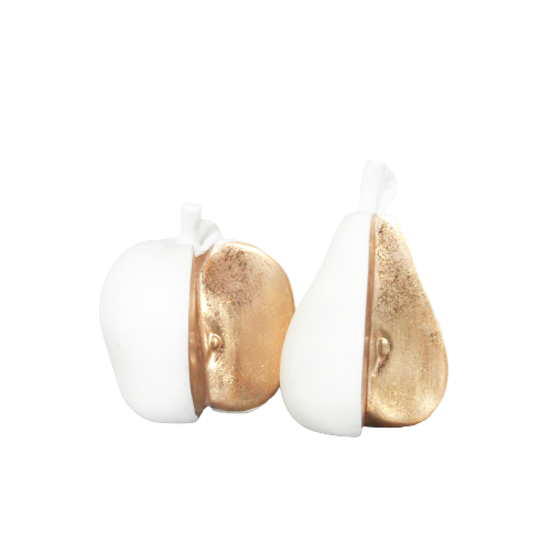 Sliced Apple & Pear Set - White - The Home Accessories Company