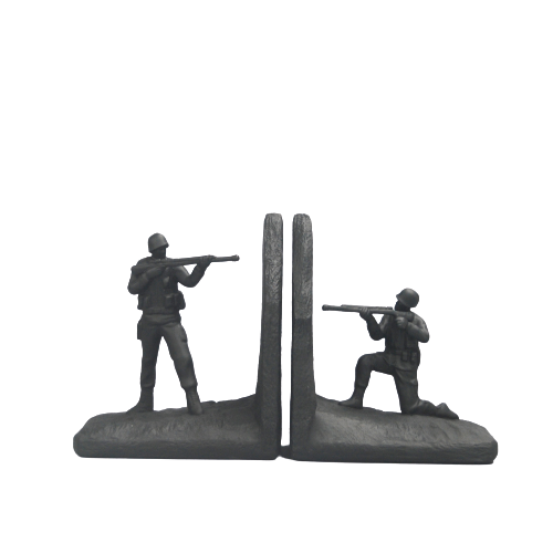 Toy Soldier Bookends -  Black - The Home Accessories Company