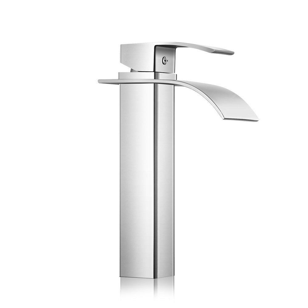 Waterfall Basin Mixer Tap - Silver - The Home Accessories Company