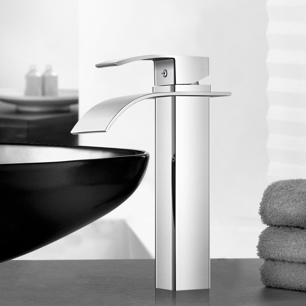 Waterfall Basin Mixer Tap - Silver - The Home Accessories Company 4
