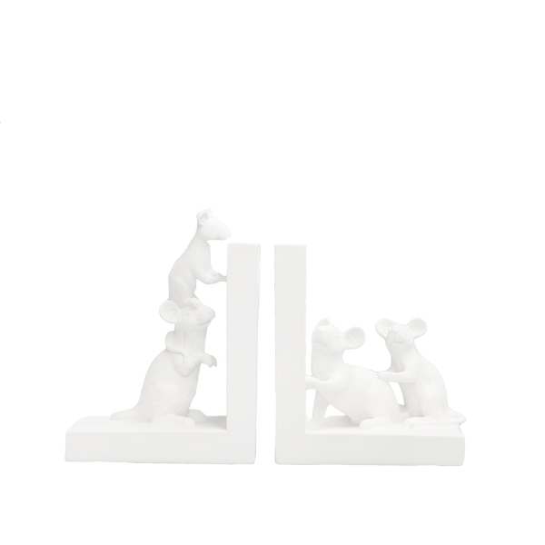 The Home Accessories Company - Mouse Bookend - White 3