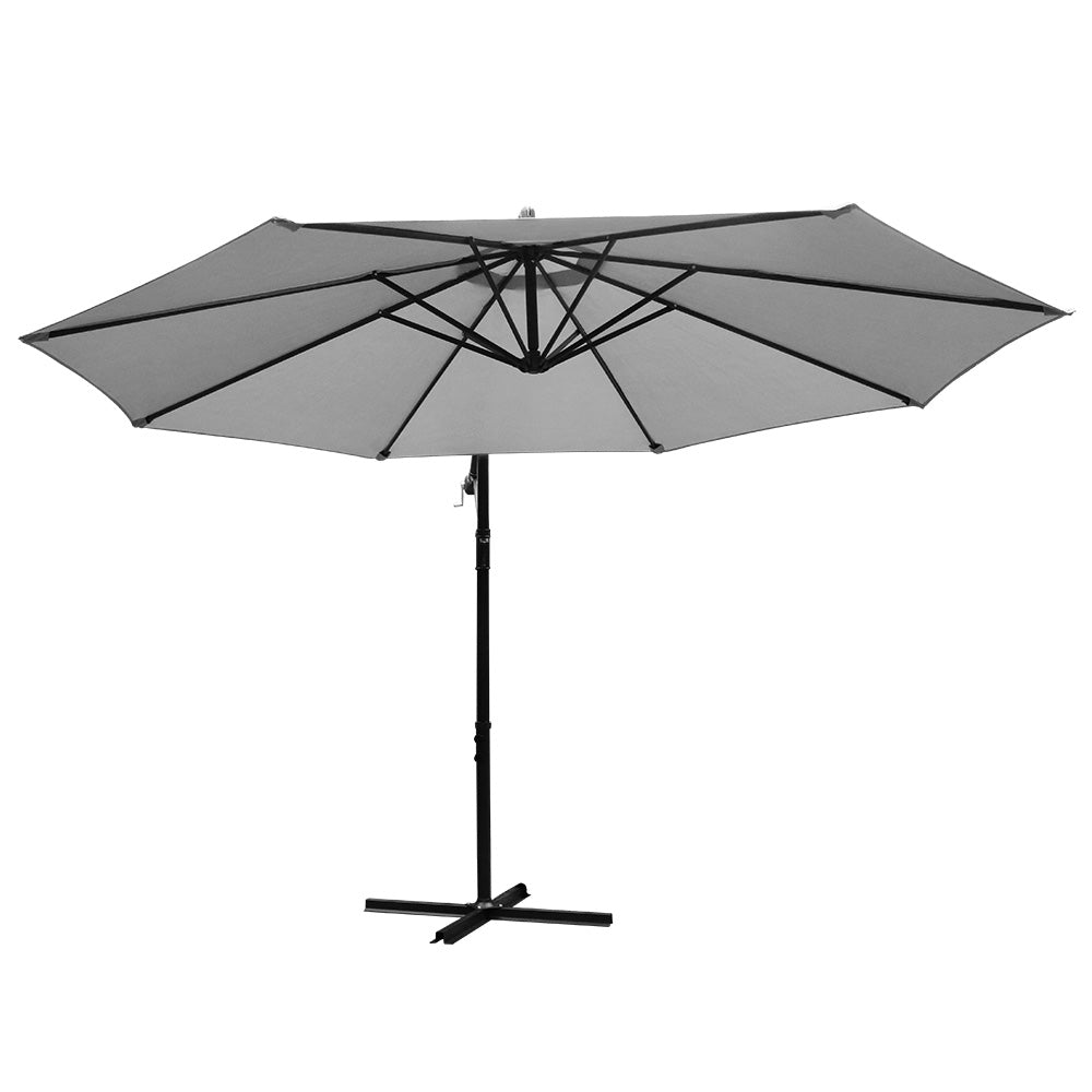 3M Outdoor Umbrella - Grey - The Home Accessories Company 1