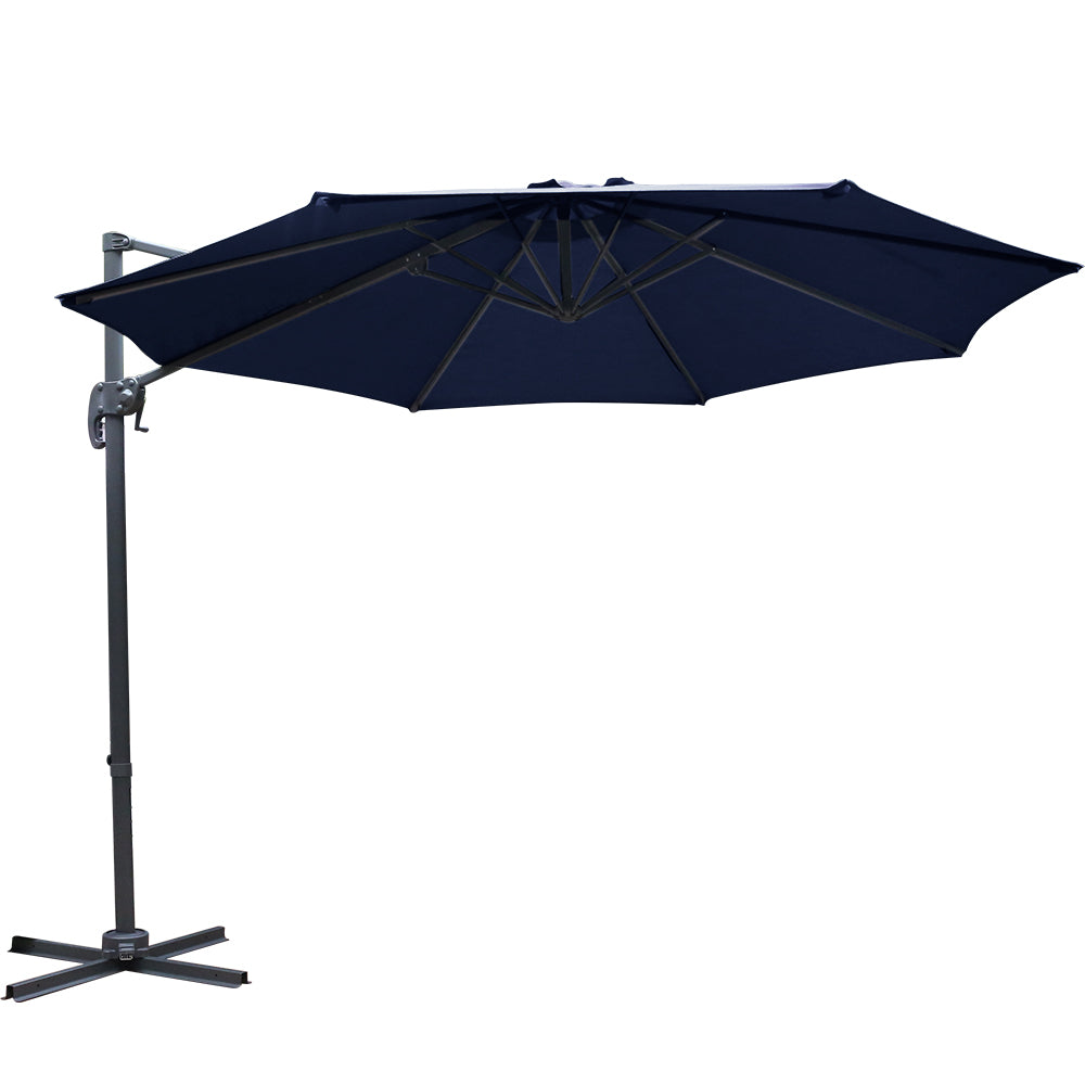 3M Outdoor Umbrella - Navy - The Home Accessories Company 1