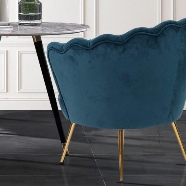 Shell Velvet Lounge Chair - Navy - The Home Accessories Company 2