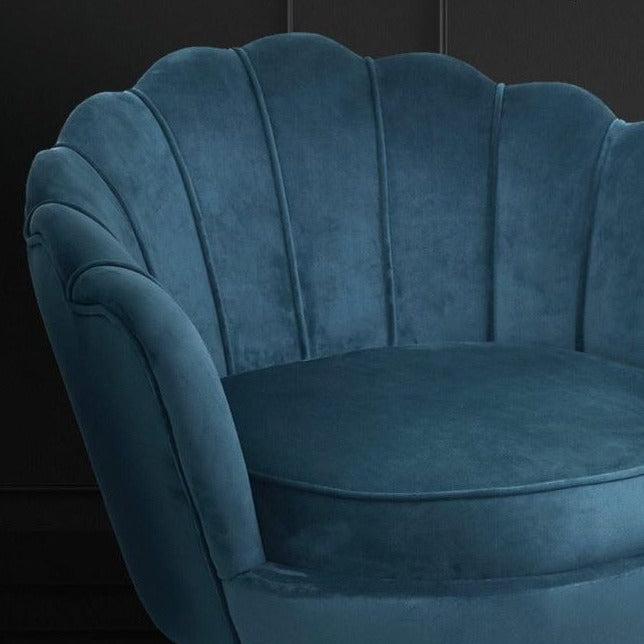 Shell Velvet Lounge Chair - Navy - The Home Accessories Company 3