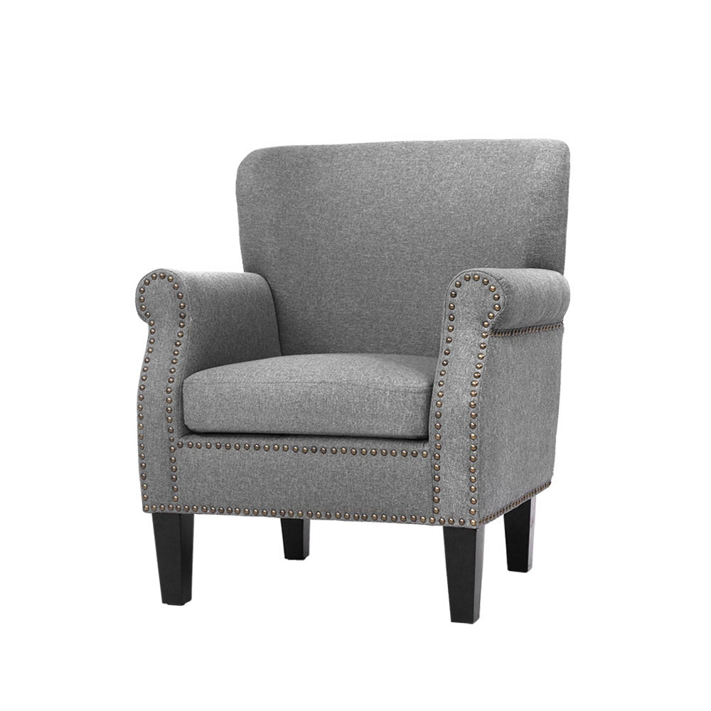 Vintage Style Lounge Chair - Grey - The Home Accessories Company
