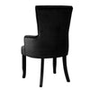 French Provincial Velvet Dining Chair - Black - The Home Accessories Company 1