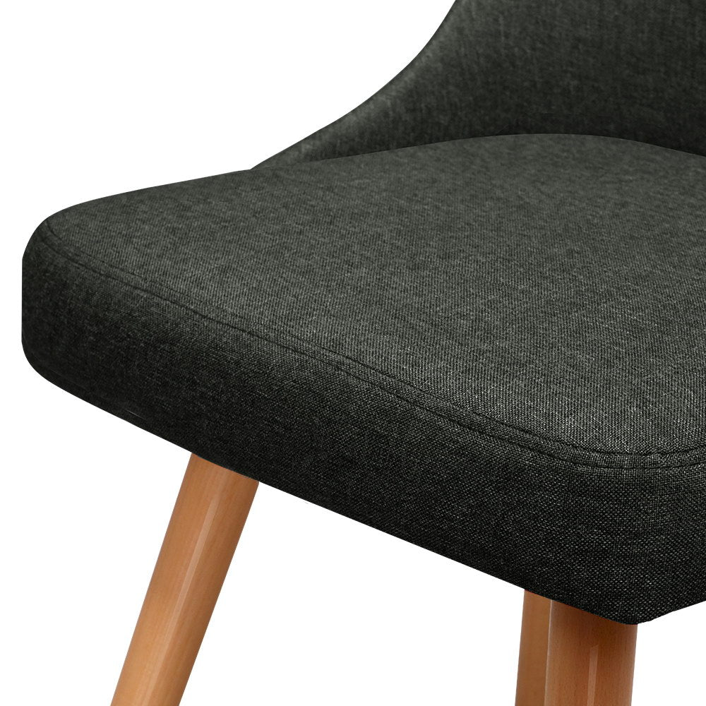 2 x Sammy Dining Chairs - Charcoal - The Home Accessories Company 1