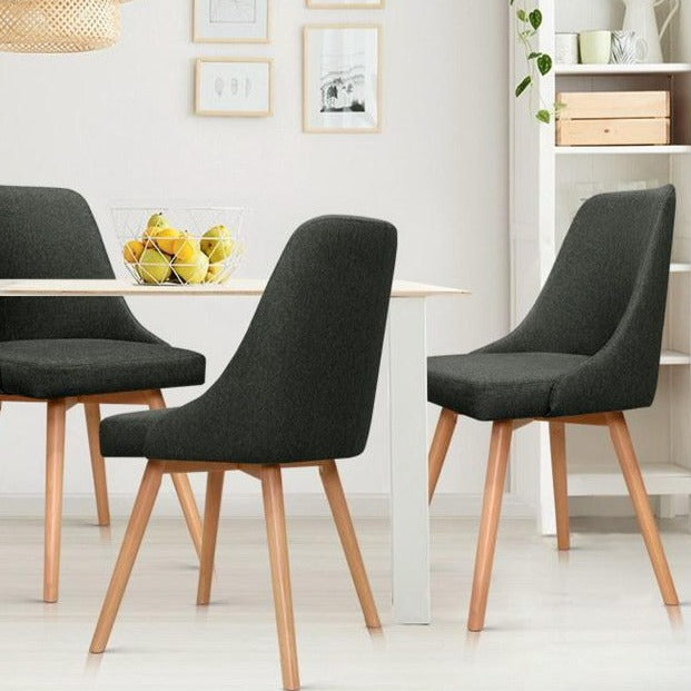 2 x Sammy Dining Chairs - Charcoal - The Home Accessories Company 2