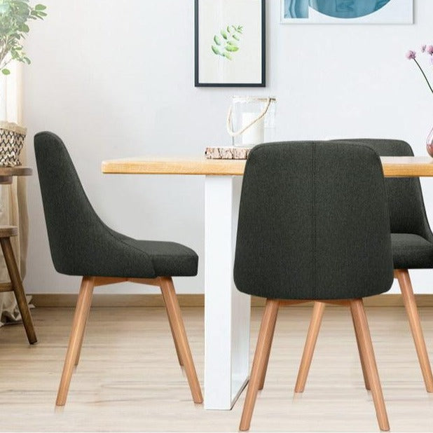 2 x Sammy Dining Chairs - Charcoal - The Home Accessories Company 3
