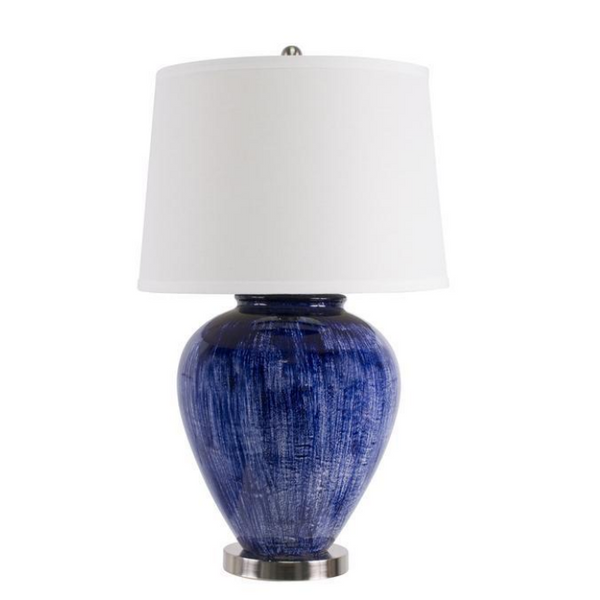 Athena Dark Blue Table Lamp - The Home Accessories Company 1