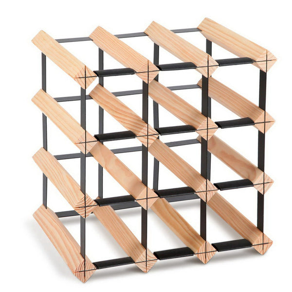 12 Bottle Timber Wine Rack - The Home Accessories Company
