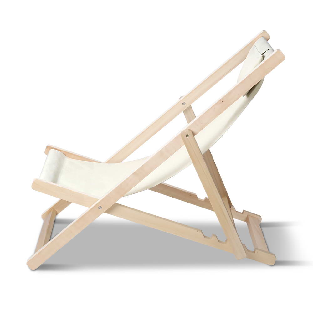 Foldable Beach Deck Chair - Sand - The Home Accessories Company 1